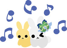 Pretty Little Rabbits Stock Images