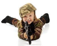 Pretty Little Soldier Stock Photos