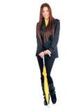 Pretty long hair woman with umbrella Royalty Free Stock Photos