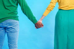 Pretty loving couple sharing their feelings Royalty Free Stock Images