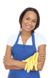 Pretty Maid with Gloves Royalty Free Stock Photo