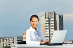 Pretty manager Royalty Free Stock Image