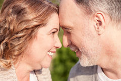 Pretty mature husband and wife are resting Stock Photo