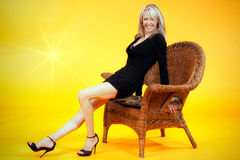 Pretty mature woman Stock Images