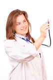 Pretty medical doctor woman Stock Photo