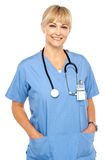 Pretty medical professional posing casually Royalty Free Stock Photography