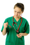 Pretty medical woman Royalty Free Stock Photography
