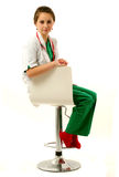 Pretty medical woman Stock Images