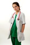 Pretty medical woman Royalty Free Stock Images