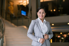 Pretty middle-aged business lady Royalty Free Stock Photo
