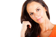 Pretty middle aged woman Royalty Free Stock Photos