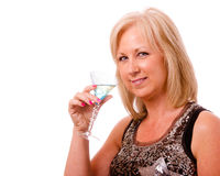 Pretty middle-aged woman dressed for party Stock Photography