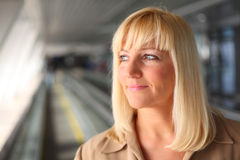 Pretty middleaged blonde Stock Image