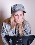 Pretty Military woman Stock Image