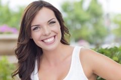 Pretty Mixed Race Girl Portrait Outdoors Royalty Free Stock Image