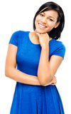 Pretty mixed race woman thinking Royalty Free Stock Photos