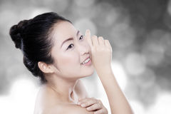 Pretty model with clear skin Royalty Free Stock Photo