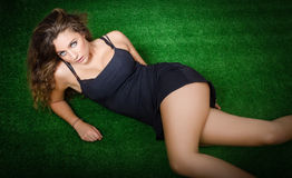 Pretty model relax in a park Royalty Free Stock Photo