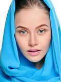 Pretty model in shawl Royalty Free Stock Photography