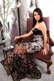 Pretty Model Show Dress Stock Photos
