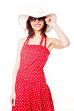 Pretty Model In Summer Fashion Royalty Free Stock Photography
