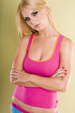 Pretty model wearing pink Stock Photo
