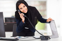 Modern Muslim businesswoman Stock Photo