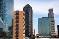 Pretty modern office buildings. In downtown of Dallas, Texas Stock Photo