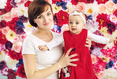 Pretty mom with cute child Stock Photography