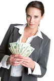 Pretty Money Woman Stock Image