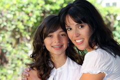 Pretty mother and daughter Royalty Free Stock Images