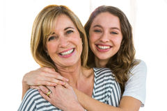 Pretty mother and daughter Stock Images