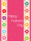 Pretty mother day card Royalty Free Stock Image