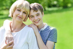 Pretty mother with her charming son Royalty Free Stock Photos
