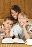 Pretty mother with her sons Stock Photography