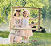 Pretty mother posing with her beloced child Royalty Free Stock Image