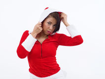 Pretty Mother Santa Stock Photo