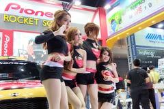 Pretty motor expo 2014. BANGKOK, THAILAND - DECEMBER 6: Pretty present car in Thailand motor expo 2014,6 december 2014 at impact meung thong thanee , Bangkok Royalty Free Stock Photo
