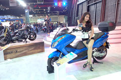 Pretty motor show 2015 Stock Photography