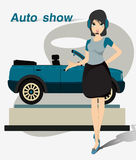 Pretty Motor Show. Royalty Free Stock Photos