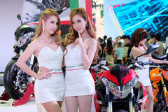Pretty motorshow 2014 Stock Images