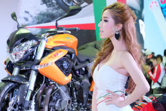 Pretty motorshow 2014 Stock Image