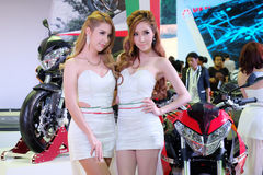 Pretty motorshow 2014 Stock Photo