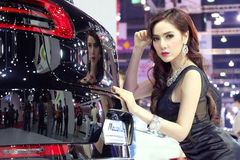 Pretty motorshow 2014 Stock Photography