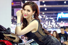 Pretty motorshow 2014 Stock Photos