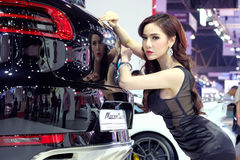 Pretty motorshow 2014 Royalty Free Stock Images