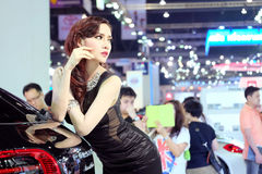 Pretty motorshow 2014 Royalty Free Stock Photography