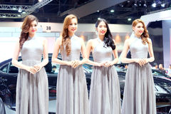 Pretty motorshow 2014 Royalty Free Stock Photo