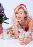 Pretty Mrs. Santa Clause Royalty Free Stock Photos