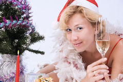 Pretty Mrs. Santa Clause Stock Images
